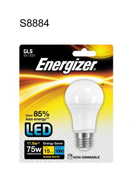 Energizer E27 Warm White Blister Pack Gls Es 11.6W