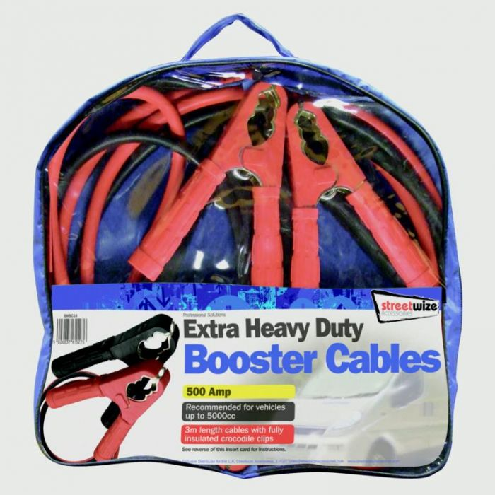 Streetwize Booster Cable 600 Amp To 4000Cc 20Gm 3M Cable