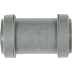 Polypipe Straight Coupling Push-Fit 32Mm Black