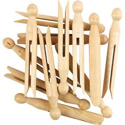 Supahome Wooden Dolly Peg Pack Of 24