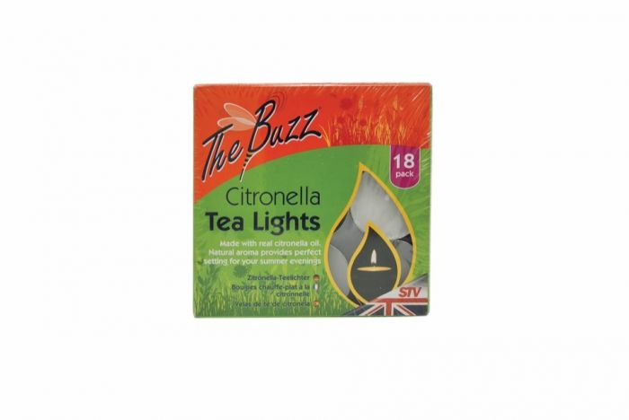 The Buzz Citronella Tea Lights 18 Pack