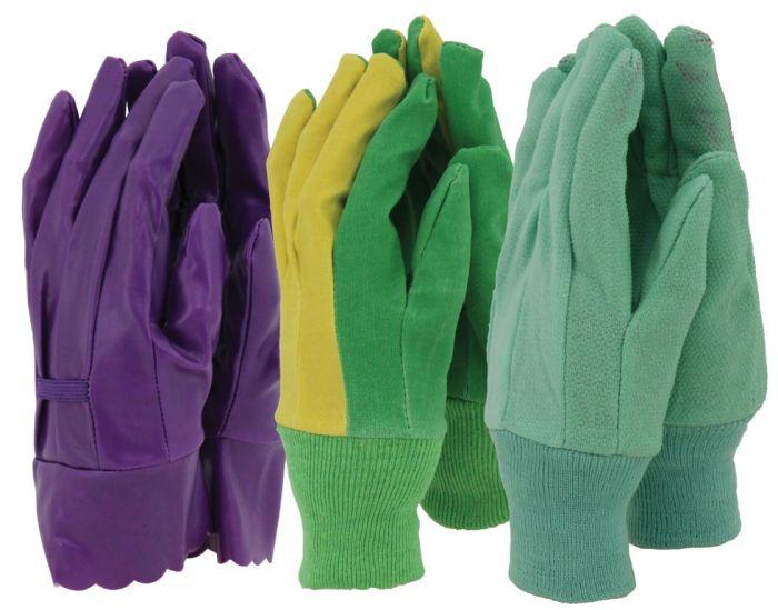 Town & Country Ladies Gloves 3 Pair Pack