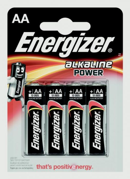 Eveready Energizer Alkaline Power Aa E91 Pack 4