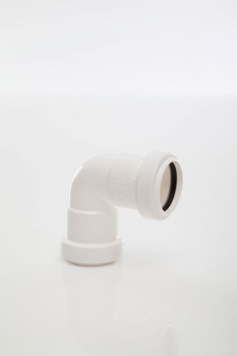 Polypipe Knuckle Bend 90 Degrees - Push Fit 32Mm White