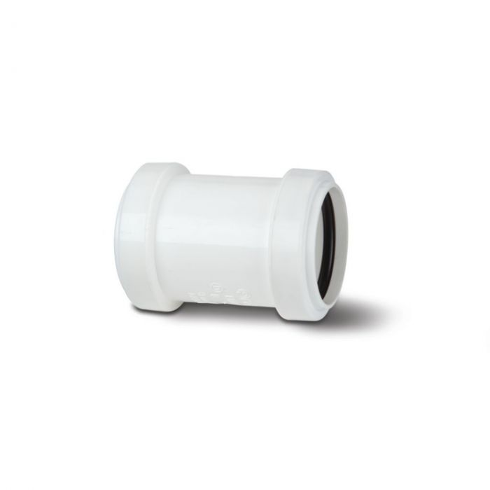 Polypipe Pushfit Straight Coupling 1 1/2 White