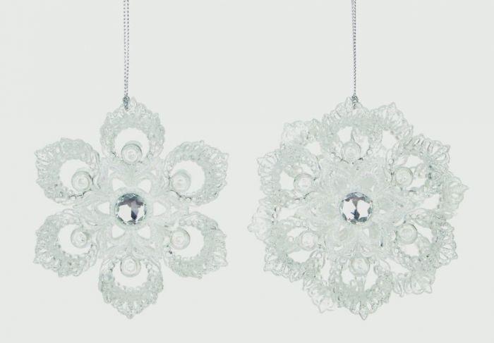 White Glitter Flower