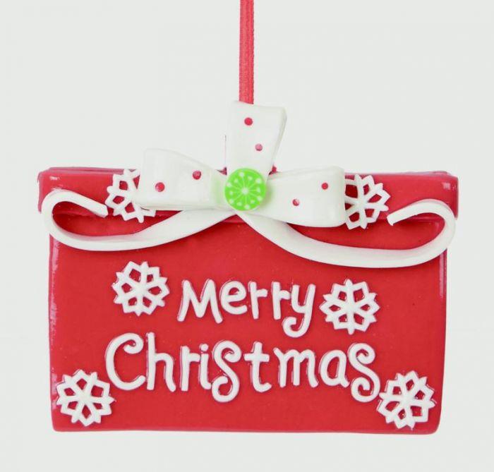 Claydough Merry Xmas Decoration