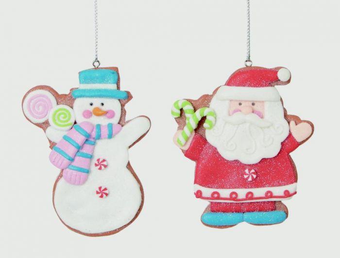 Claydough Santa Snowman Hanging Decorations