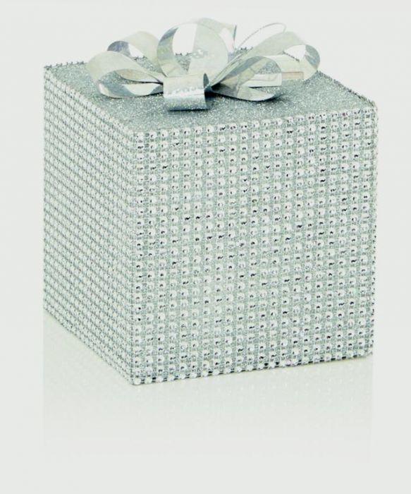 Silver Sparkle Present Bow