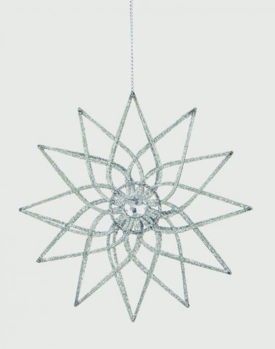 Glitter Wire Snowflake Jewel
