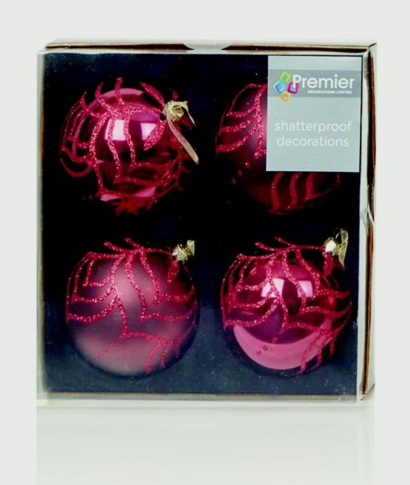 4 Deluxe Decorated Balls