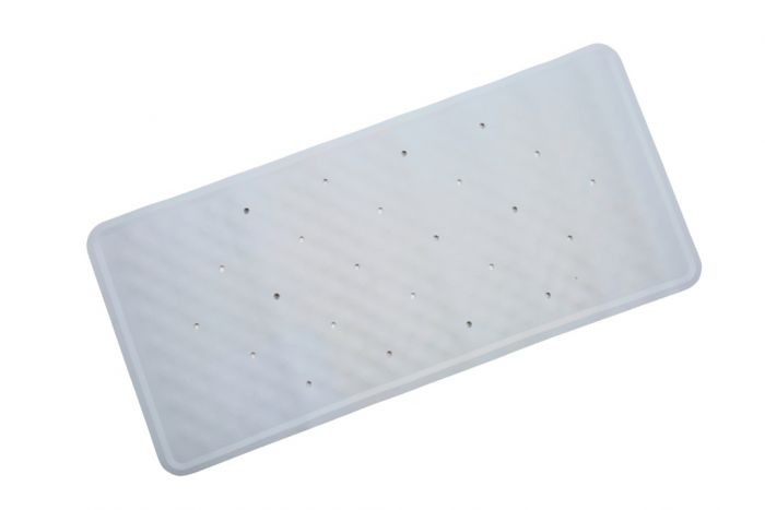 Croydex Basics Rubber Bath Mat Blue