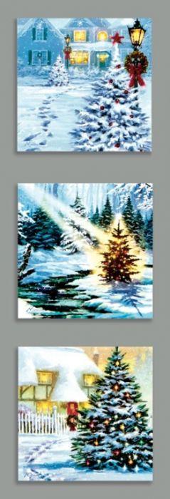 Christmas Tree Scenes Canvas
