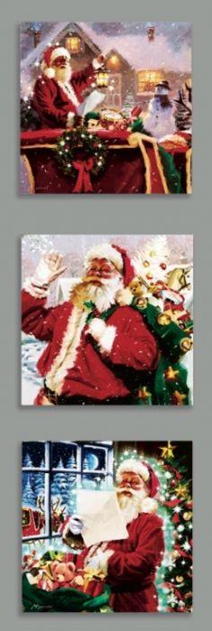 Santa Scene Canvas 4 Leds
