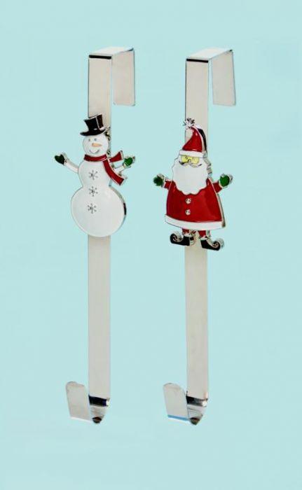 Santa Snowman Wreath Hanger