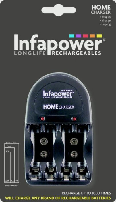Infapower Home Charger Batteries Not Included