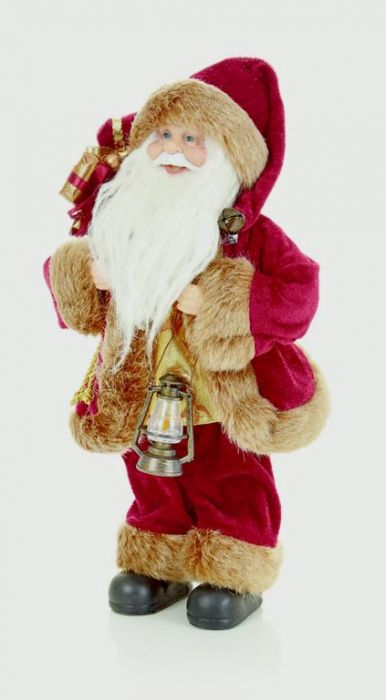 Standing Burgundy Santa