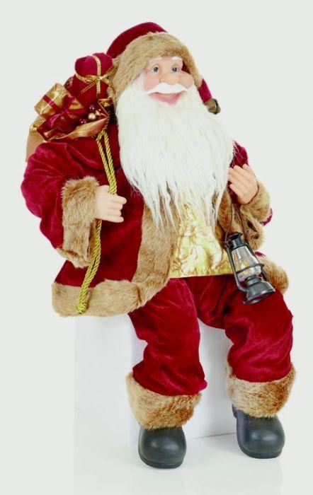 Sitting Burgundy Santa