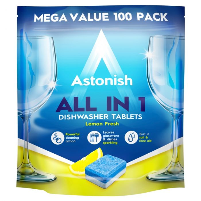 Astonish All In 1 Dishwasher Tablets Pack 100