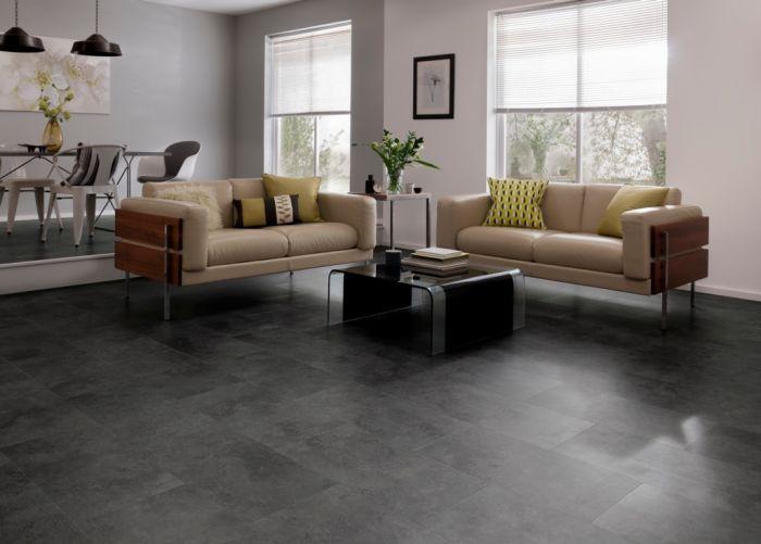 Karndean Cetona Black Vinyl Floor Tile 600 X 307 1.842M