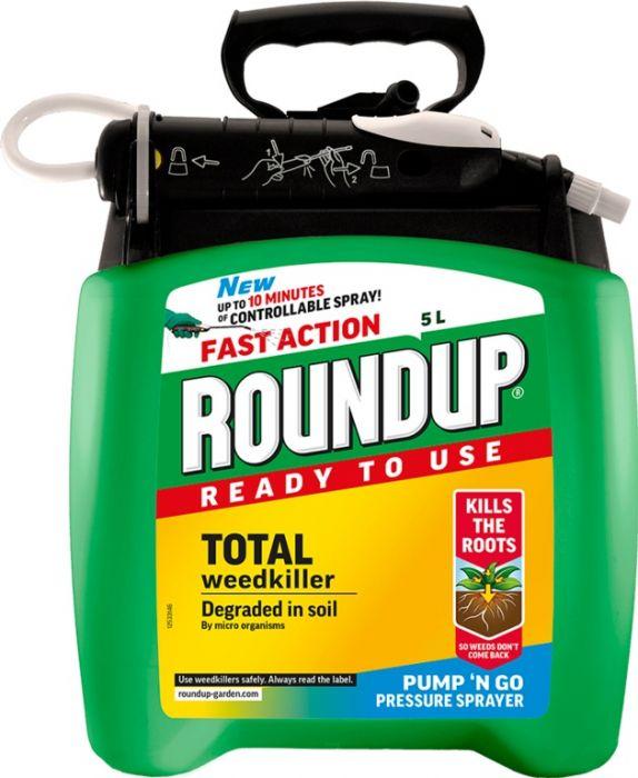 Roundup Fast Action Pump N Go 5L Rtu