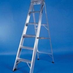 Titan Aluminium Industrial Step Ladder 6 Tread