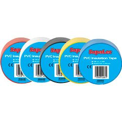 Supalec Pvc Insulation Tapes Assorted 5 Metre Pack 10