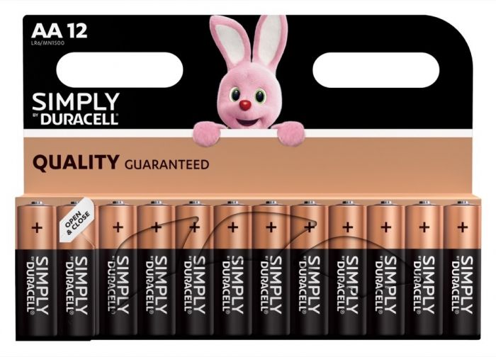 Duracell Simply Batteries 12 Pack Aa