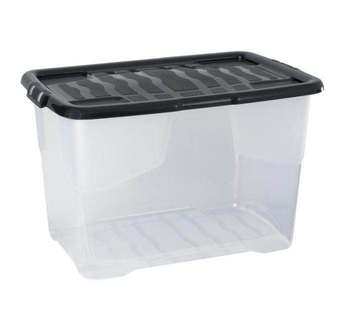 Strata Curve Storage Box And Lid 65L