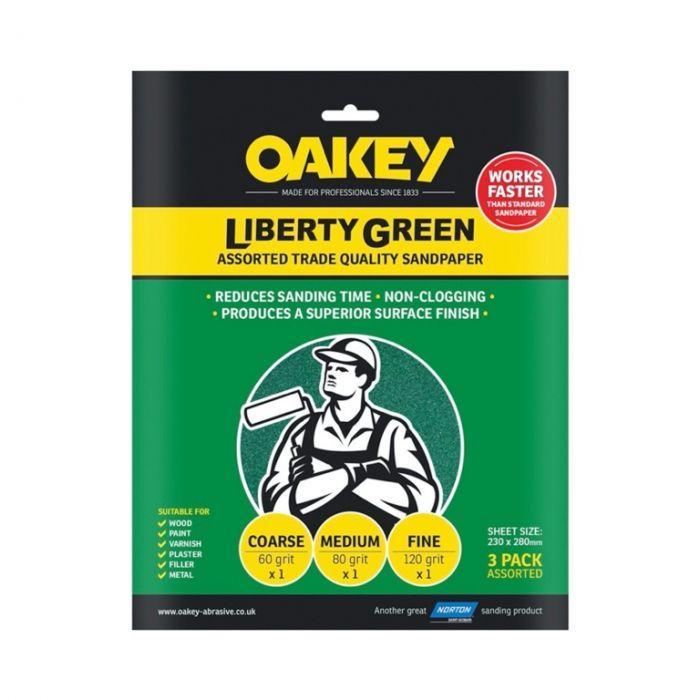 Oakey Liberty Green 3 Sheets