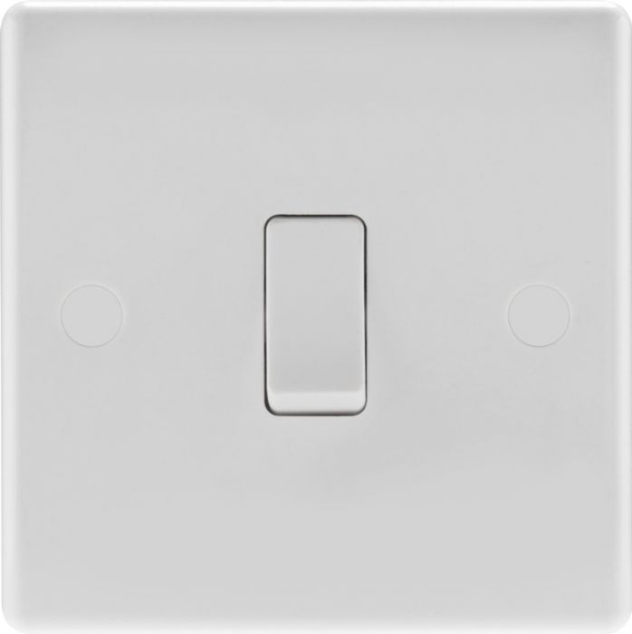 Nexus Moulded White Double Pole Switch With Flex Outlet 20A