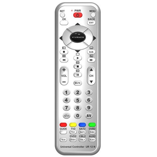 Vivanco Ur 12 N 12 In 1Remote Control Silver