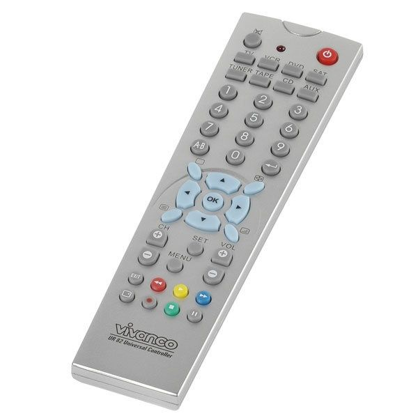 Vivanco 8 In 1 Universal Remote Control Silver