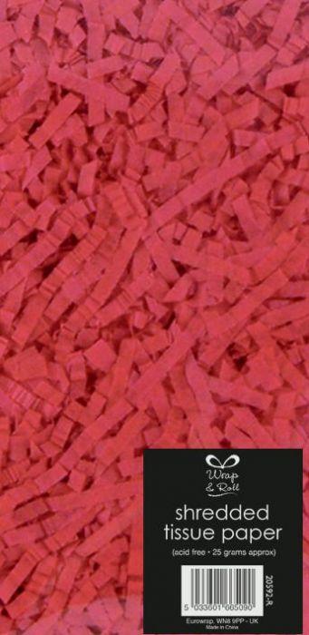Shredded Tissue Paper Red