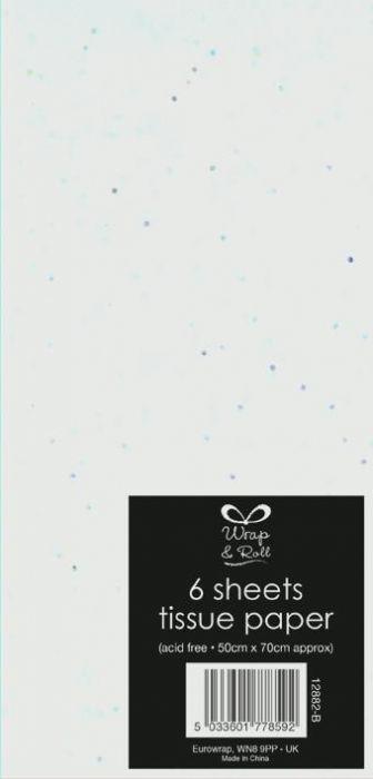 Glitter Tissue Paper White