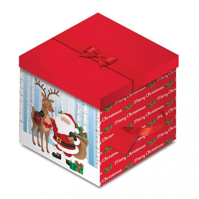Santa Square Flat Box