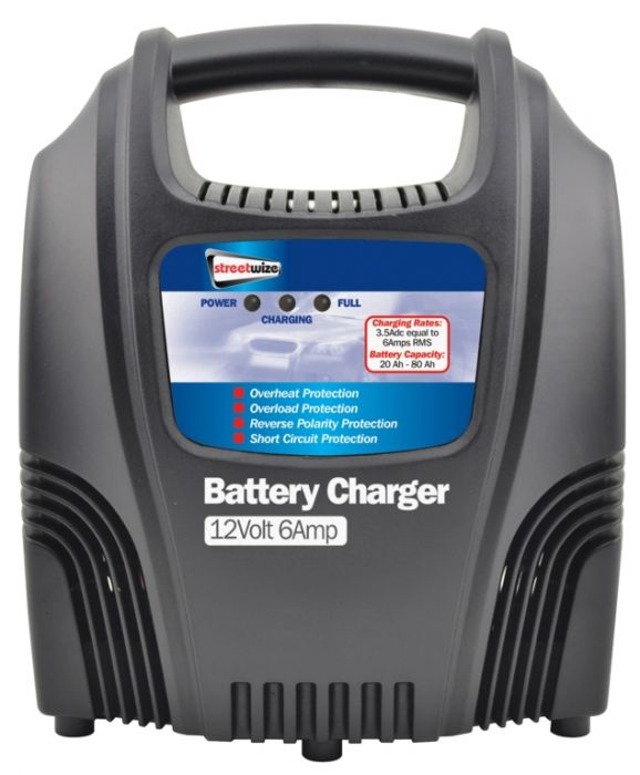 Streetwize Compact Battery Charger 6Amp 12V