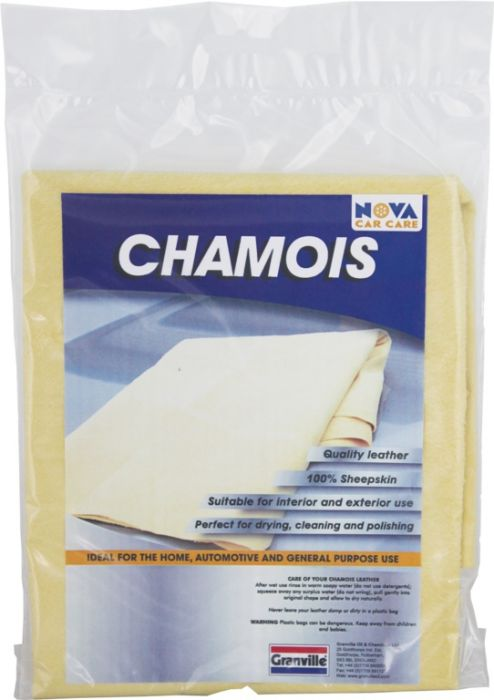Granville Chemicals Premium Genuine Chamois Leather 1.5 Sq Ft Small