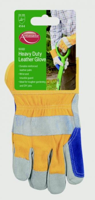 Ambassador Deluxe Heavy Duty Leather Glove Reinforced Leather Palm