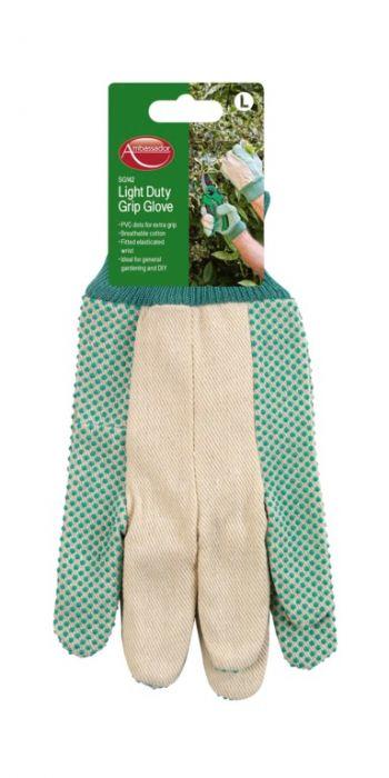 Ambassador Light Duty Grip Glove Pvc Dots For Extra Grip