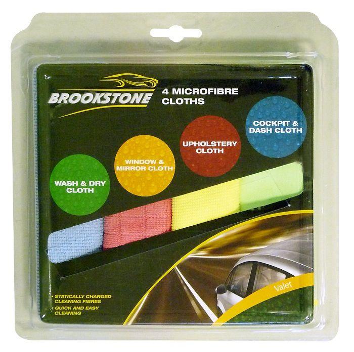 Brookstone Valet Microfibre Cloths 4 Pack