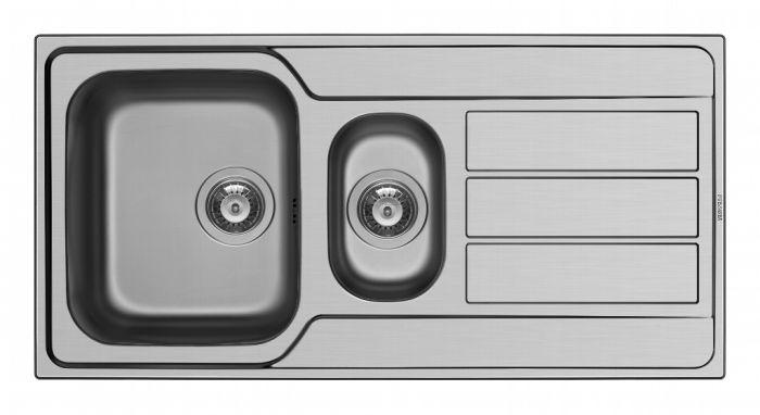 Pyramis Athena Stainless Steel 1.5 Bowl Sink & Tap 1000 X 500Mm