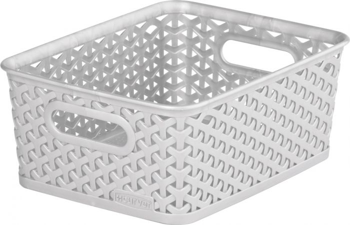 Curver Nestable Rattan Basket 8L Grey