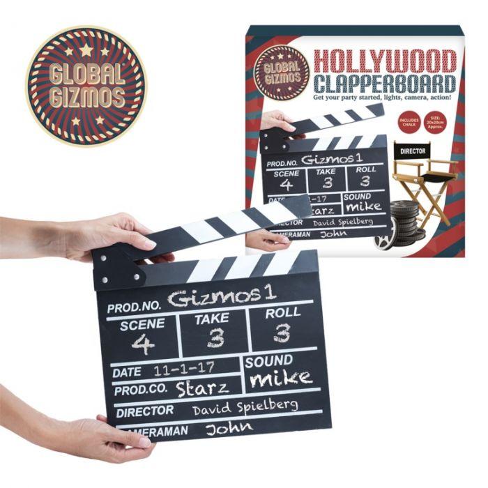 Global Gizmos Chalkboard Clapperboard