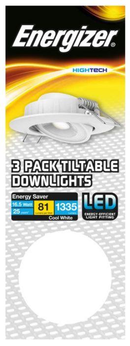 Energizer Tiltable Downlight Kit 16.5W White