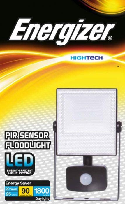 Energizer 20W Led Ip44 Pir Floodlight
