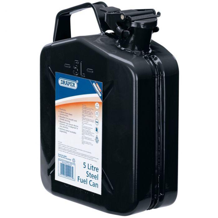 Draper Steel Fuel Can Black 5L