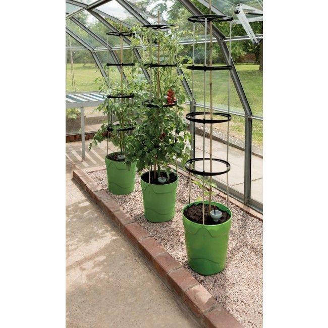 Garland Self Watering Grow Pot Tower Green