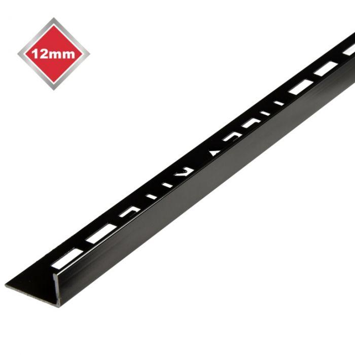 Tile Accessories L Metal Black Nickel Tile Edging 12Mm X 2.4M