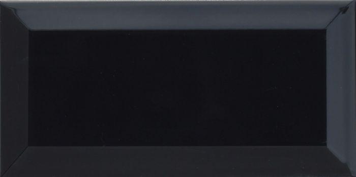 Ceramics Metro Bevelled Edge Brick Tile Black 100 X 200Mm